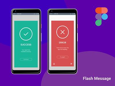 Flash Message figma logo illustration design websites website design signup sign in business card design adobe xd ux