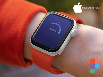 Apple Watch (Countdown Timer) figma logo illustration design websites website design signup sign in business card design adobe xd ux