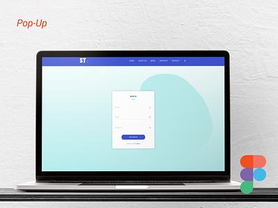 Sign-Up (Pop-Up) Design figma logo illustration design websites website design signup sign in business card design adobe xd ux