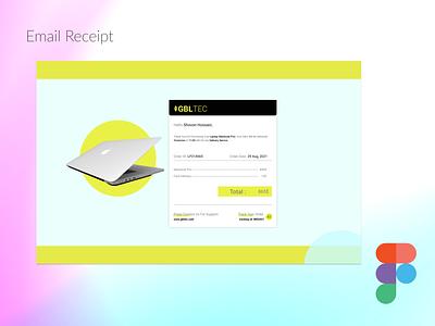 Email Receipt Desing figma logo illustration design websites website design signup sign in business card design adobe xd ux