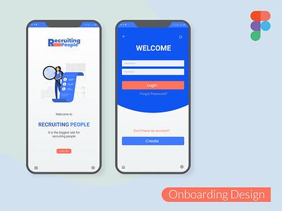 Onboarding Design figma logo illustration design websites website design signup sign in business card design adobe xd ux