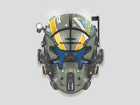 Pilot helmet from Titanfall 2