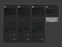 Trading app dark mode (tablet) - preview a stock