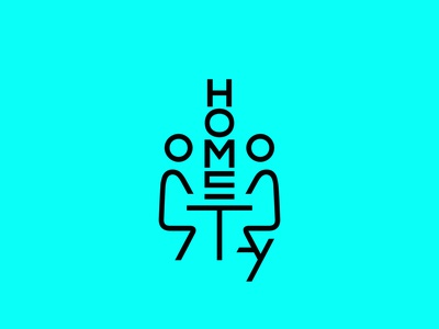 Home Stay flat font type identity design letters simple logo logotype branding