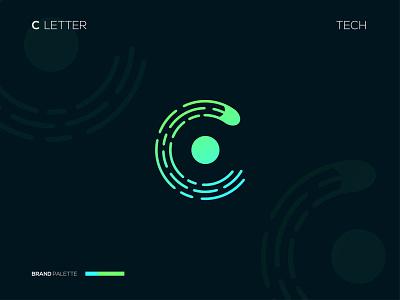 C icon type identity design letters simple logo logotype branding