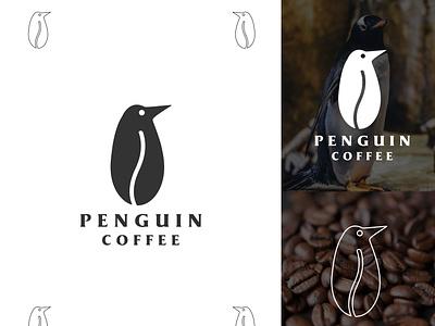 Penguin coffee appicon proffesional vectors icon design creative brandind type identity design letters simple logo logotype branding