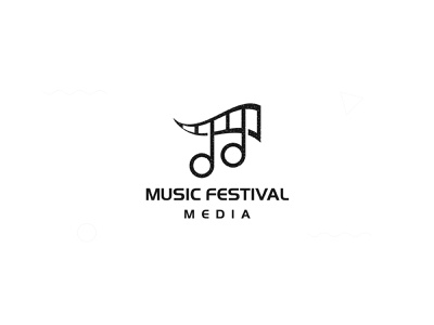 Music festival media logomark proffesional visual design music app identity type musiclogo vector design letters simple branding logotype logo
