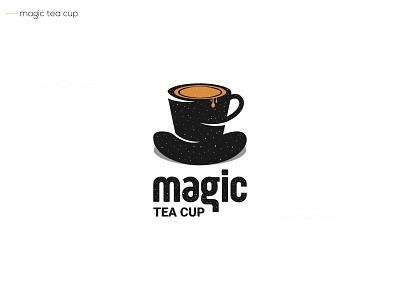 magic tea cup logos letters proffesional creative logo logomark type design identity vector logotype simple branding logodesign