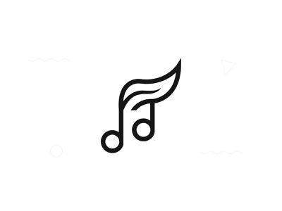 leaf music musician simple music player design font typography identity letters vector type brandind music app logo logotype branding