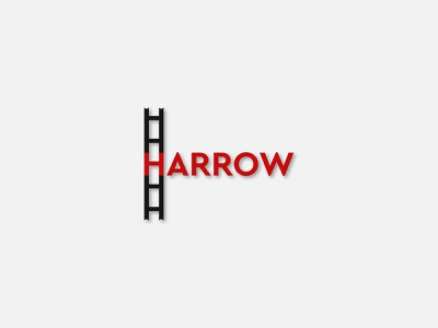 harrow simple design creative logo logomark vector typography type identity design simple letters branding logotype logo