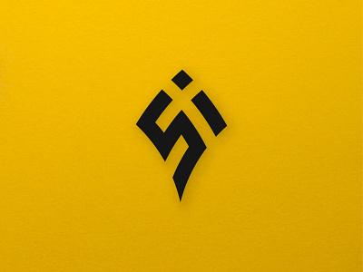 si letter logomark vector proffesional icon design creative logo flat brandind type identity design letters simple logotype branding logo
