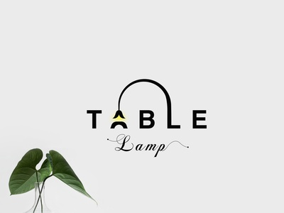 Table Lamp identity brandind type typography design letters simple logo logotype branding