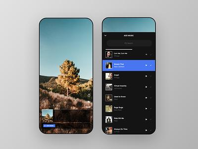 Clips App stories tiktok recording figma mobile app design mobile design mobile ui mobile uiux ui