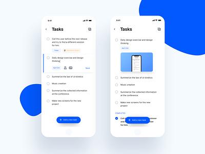 Tasks app clean style ios website interface app web ux ui