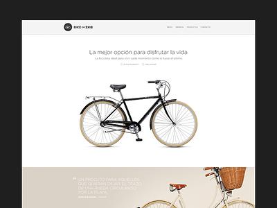 BikeorBike Site ui app flat web ecommerce landing website user interface clean simple bike life