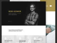 Upcoming - Bob Gower Landing page