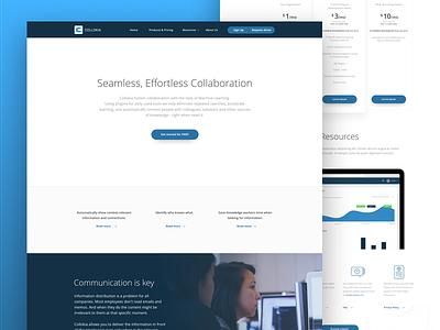 Collokia website Redesign  website blue redesign ux ui web