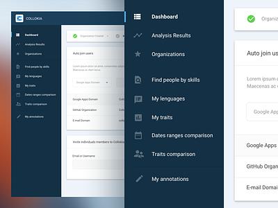 Collokia 2.0 ux materialdesign dashboard ui