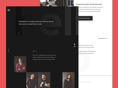 New website HH friends design collective hellohello website