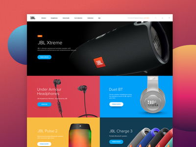 JBL Concept ecommerce ux tech colors redesign ui web