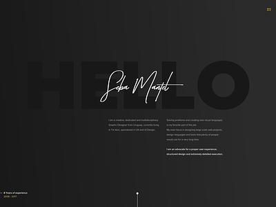 Portfolio 2017 site website dark portfolio web ui ux