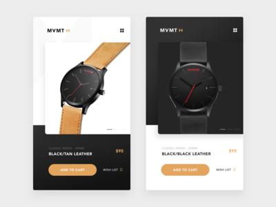 MVMT Watches app concept.