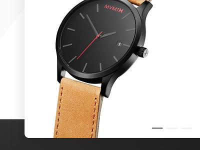 MVMT Watches app concept.  concept black watches minimal ux ui ios app