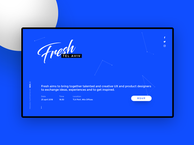 Fresh Meetup Website product ux fresh meetup conference ui