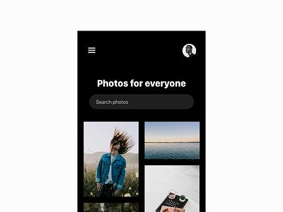 Unsplash Concept ux mobile interface app design ui