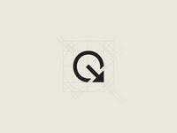 Q with arrow