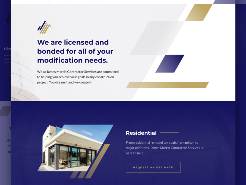 James Martin Contractor Services Website by Earl Lou V
