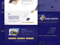 James Martin Contractor Services Website