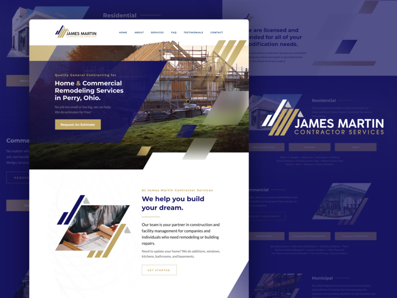 James Martin Contractor Services Website by Earl Lou V  Mahinay on