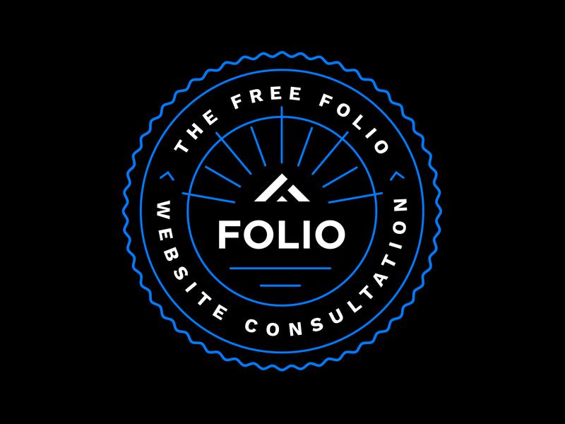 Free Folio Website Consultation simple curls illustration design shapes sticker mule circles illustrator outline coasters badgedesign lines badge