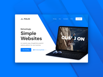 Folio Websites Landing Page Banner Option