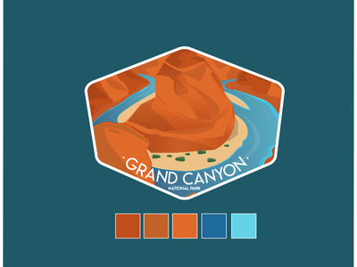 Grand Canyon National Park mountain nature landscape camping outdoor travel adventure nationalpark logo badge sticker grandcanyon
