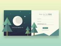 Sign Up - night forest