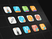 Whink App Icon Explorations