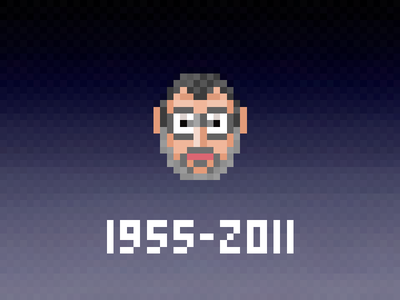 Sending my love on his birthday with a 16px icon portrait jobs steve tiny 16px icon