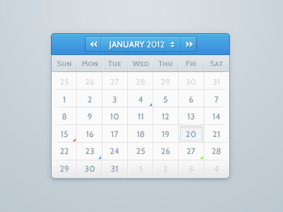 Calendar blue calendar ui iconmoon