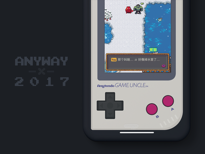 Anyway.2017 Year-end Mini-site anyway.fm 2017 podcast 8-bit pixel game gameboy web