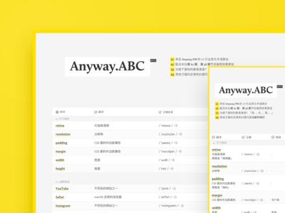 Anyway.ABC Mini Site english translation chart table anyway.fm web