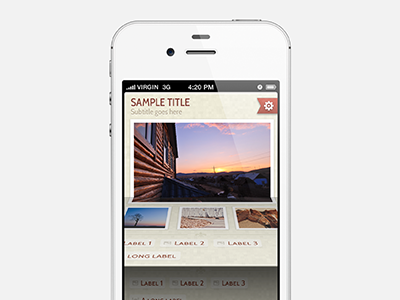 App Concept 2 ios iphone app concept flipboard flip pages photo photography ui iconmoon