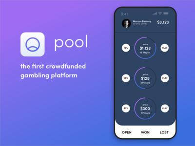 Pool gambling app concept