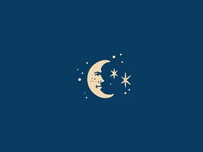 Moon dark moon night blue filipiniana americana masonic mason vintage tarot icondesign icon design art illustration