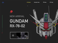 web to DIY Gundam model