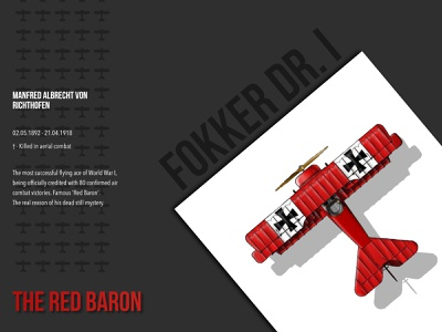 The Red Baron - Flying ace of WW1 2d design 2d art 2d manfred von richthofen illustration plane flying ace baron red