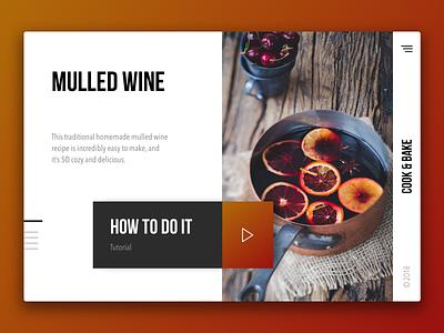 17 December - Mulled Wine Recipe recipe mulled wine unsplash advent calendar christmas december landing page design webdesign website ux ui typography