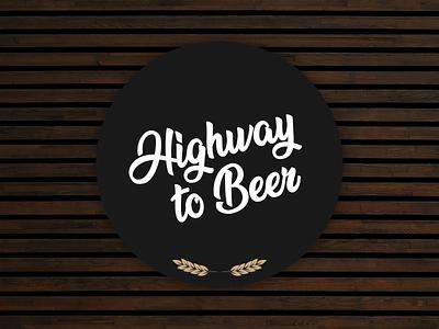 Highway to Beer typography beer coaster giveaway stickermule