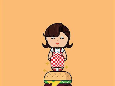 Hamburger Gigi's fashion illustration drag queen rupaul drag race illustration